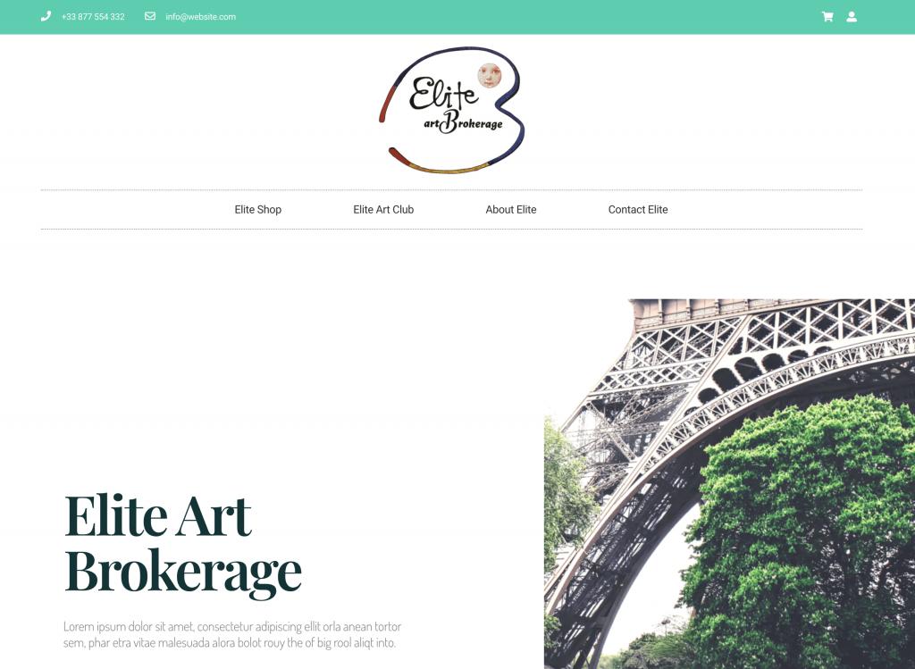 Elite Art Brokerage Website