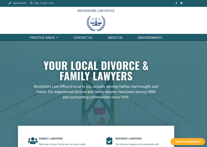 Brookshire Law Office website